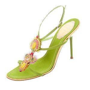 NWT RENE CAOVILLA Embellished Multistrap Sandals